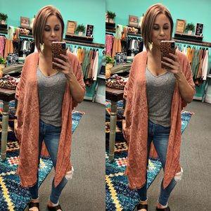Fall copper kimono